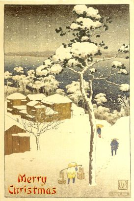 Negishi - a Japanese woodblock print by Charles W Bartlett in 1916