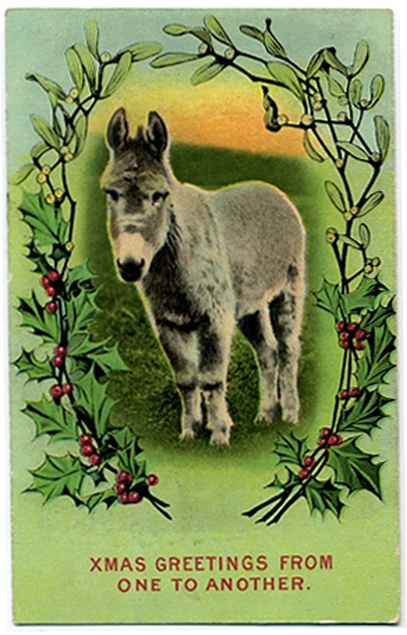 From one ass to another - funny vintage Xmas card