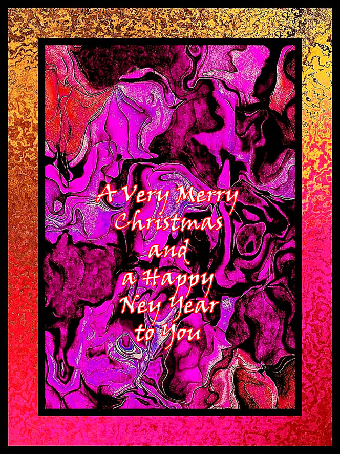 Modern abstract printable christmas greeting card