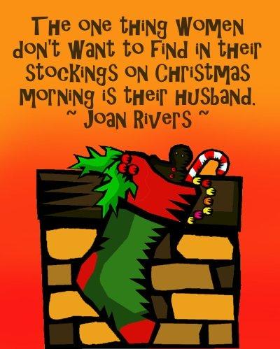 Christmas socks on fireplace - funny Christmas card.
