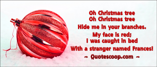 Funny Christmas poem on printable card. Picture of pretty Christmas ball.