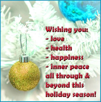 Exceptional Modern Christmas Greeting Card: Wishing You Love, Health, Happiness And  Inner Peace All