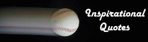 Inspirational quotes: Picture of flying baseball on black background