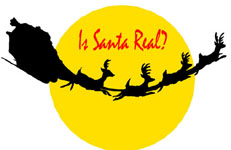 Yellow Moon Sleigh Reindeers Silhouette: Is Santa Claus Real?