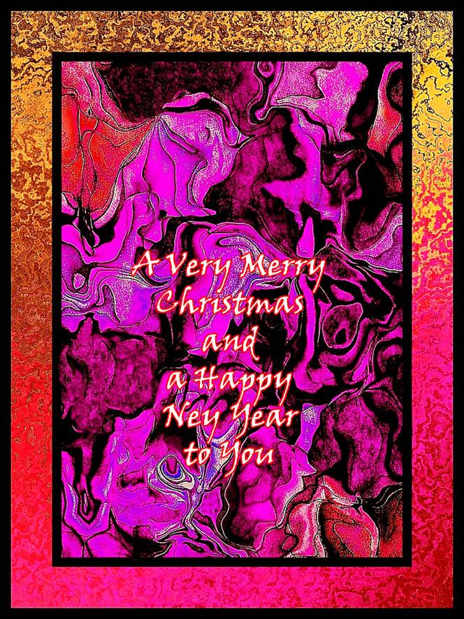 Modern abstract printable christmas greeting card