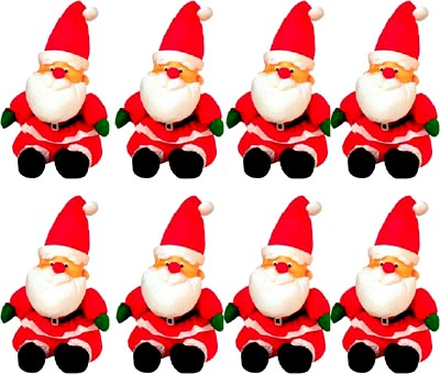 Lots of Santa Claus