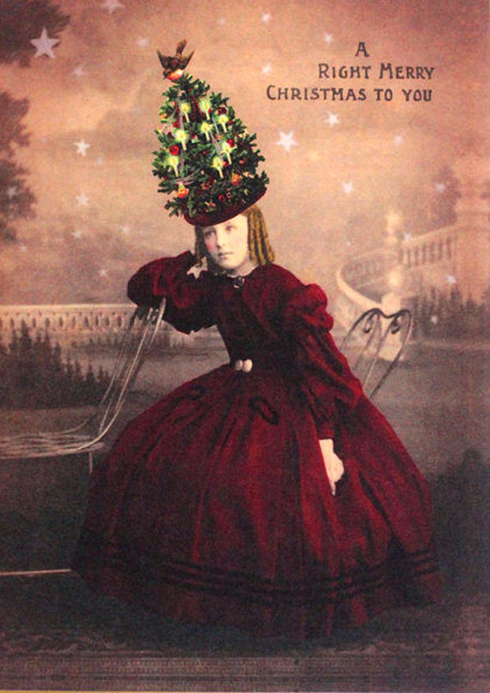 Funny Christmas Cards: Vintage, Printable Xmas Greetings