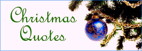 Christmas Quotes picture with Christmas tree branch and blue Christmas ball.