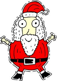 Santa Claus drawing, a bit silly