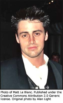 Photo of Matt LeBlanc (Joey) from Friends