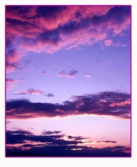 Beauful sunset in the sky