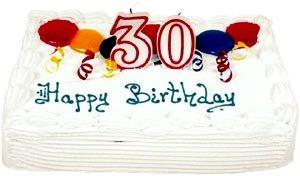 Birthday cake with 30 years.