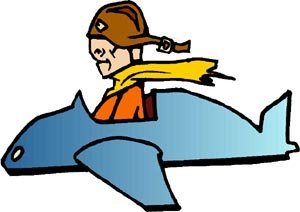 Really Funny Short Jokes: funny drawing of man in an aeroplane