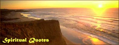 Spiritual quotes: early sunrise by the sea. Cliffs and calm waters.