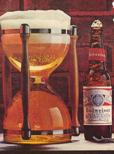 Vintage Budweiser beer commercial - Budweiser hourglass! <br><br><br>