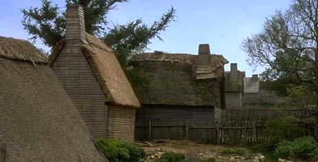 Massachusetts nickname: The Old Colony State - picture of early settlements