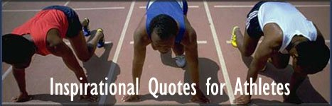 Inspirational quotes for athletes - picture of runners at the start line!