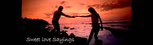 Sweet Love Sayings - Couple in love on the beach in the sunset