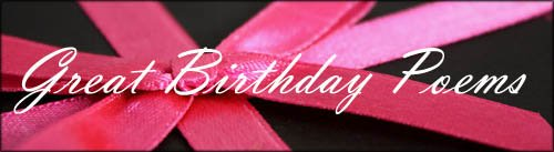 Inspirational birthday poems: Black gift with pink band