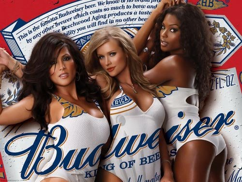 Budweiser beer commercial - Picture of the Budweiser girls - great beer ads