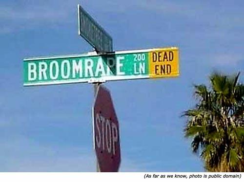 Really funny street names: Broomrape Lane!