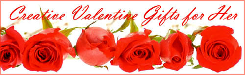 Romantic Valentine gifts for her: Line of red roses.