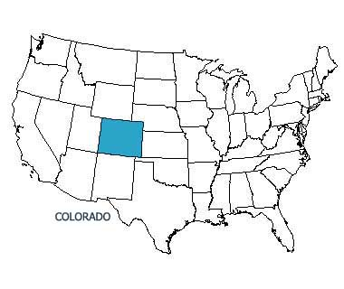 USA map with Colorado highlighted