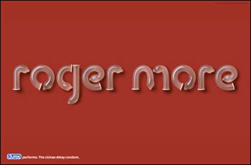 Funny Durex commercial: roger more written with condoms