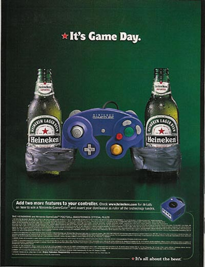 Heineken ads - Nintendo - it's game day
