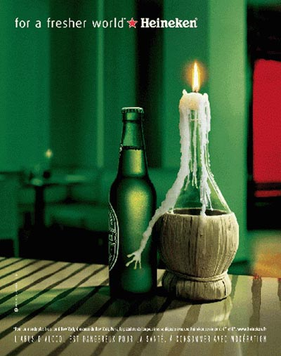 Heineken ad - candle - great beer ads