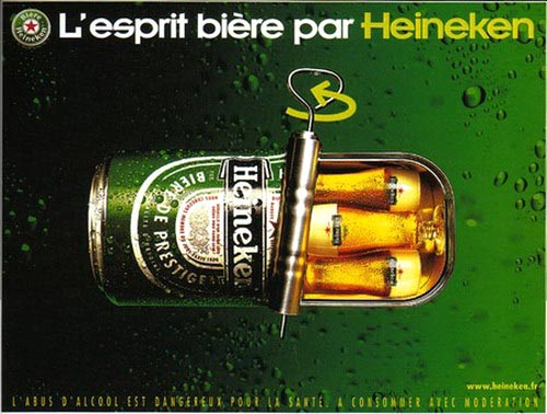 Great Heineken ad with sardines in a can - beautiful alcohol ads