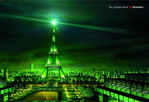 Heineken beer commercial - Paris and the Eiffel Tower - alcohol ads at their best