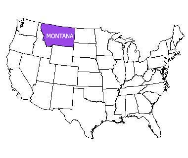 USA map with Montana highlighted