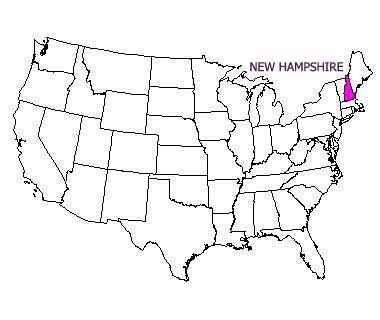 USA map with New Hampshire highlighted