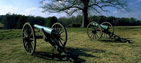 New Jersey nickname: The Pathway of Revolution - picture of Civil War canons