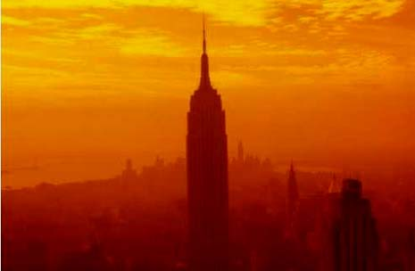 New York nickname: The Empire State - picture of the Empire State Building