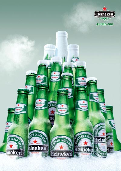Heineken commercials - great beer ads for after ski pleasures