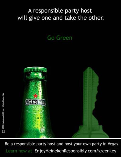 Responsible Heineken ads - give the key