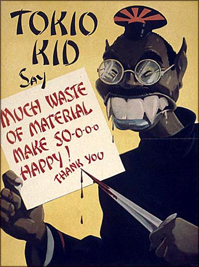 Old American wartime poster - anti Japanese poster.