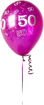 Birthday balloon with 50 years.