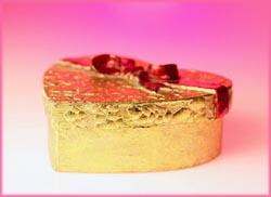 Beautiful box of chocolate.