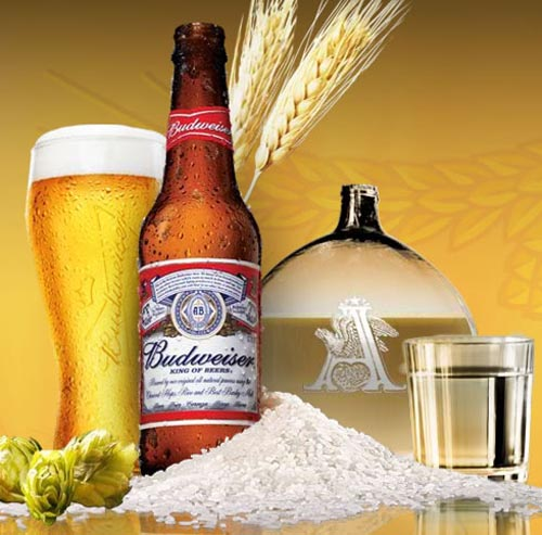 Great Budweiser ad - Pretty picture with Budweiser and wheat.