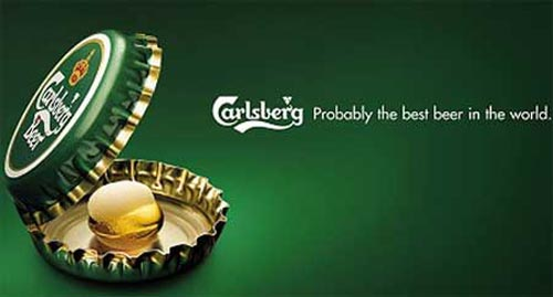 Carlsberg ad - Capsules as an oyster with a 'pearl' inside.