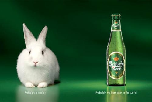 Carlsberg ads - Probably a rabbit. Probably the best beer in the world!