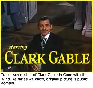 trailer screenshot of clark gable from gone with the wind