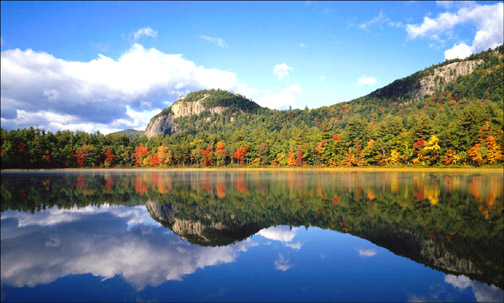 Free Inspirational Quotes - beautiful landscape calm lake mountains trees fall leaves