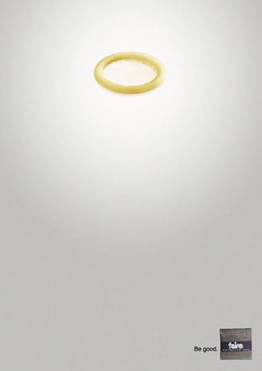 Funny condom ad from Farie - condom halo