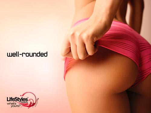 Lifestyles condoms ads: very funny commercials with woman's bottom: Well-rounded