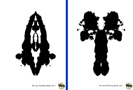 Tulipan condom commercial Rorschach test - are you thinking about sex
