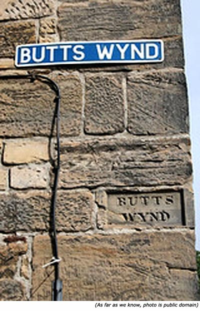 Funny street names: Butts Wynd!